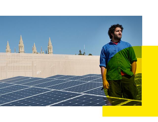 Solar panels at UCLA